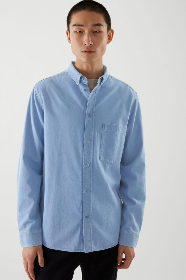 COS default image 12 of 블루 in 데님 셔츠