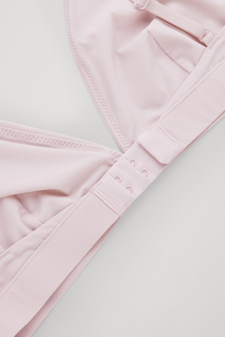 COS 트라이앵글 마이크로파이버 브라의 핑크컬러 Detail입니다.