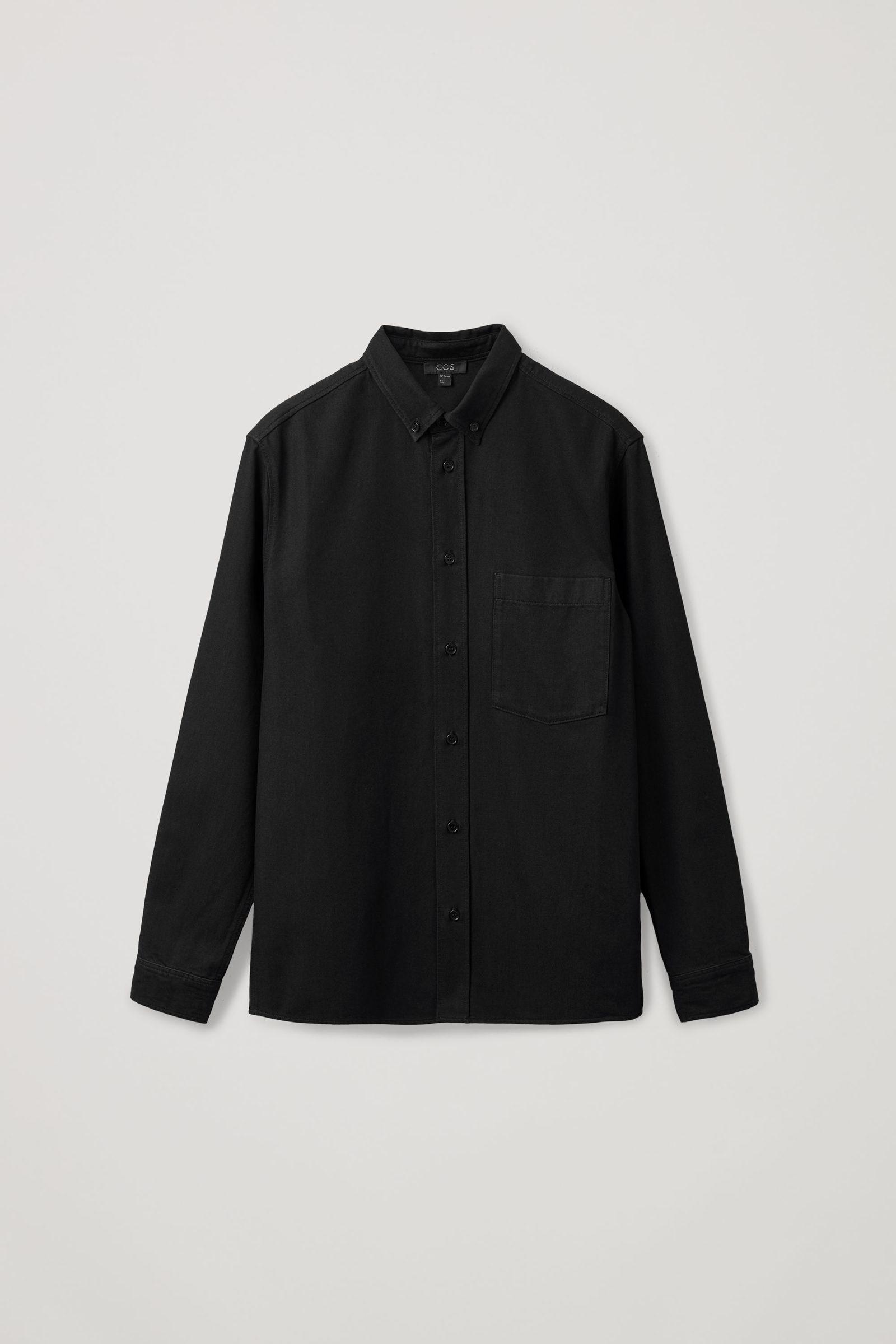COS 데님 옥스포드 셔츠의 블랙컬러 Product입니다.