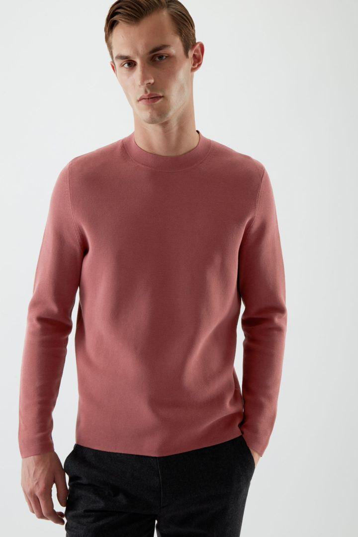COS default image 7 of 핑크 in 니티드 코튼 스웨터