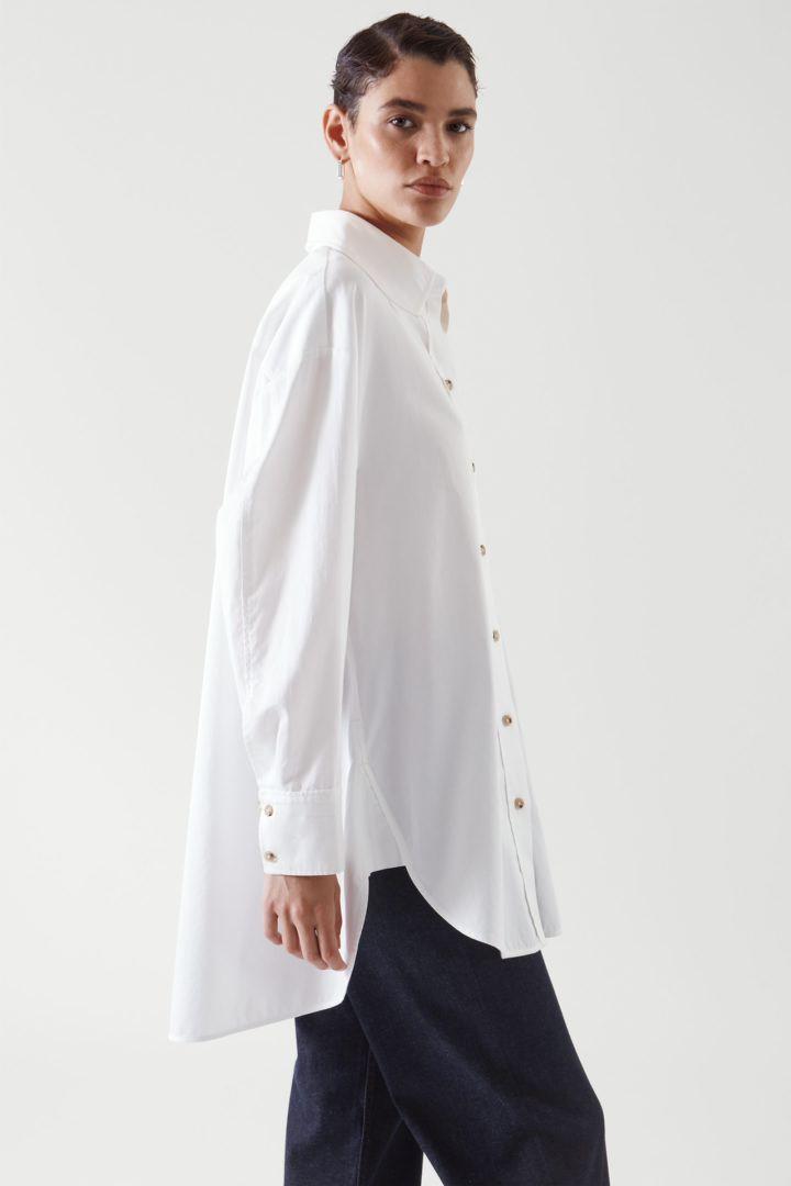 COS default image 2 of 화이트 in 오버사이즈 셔츠