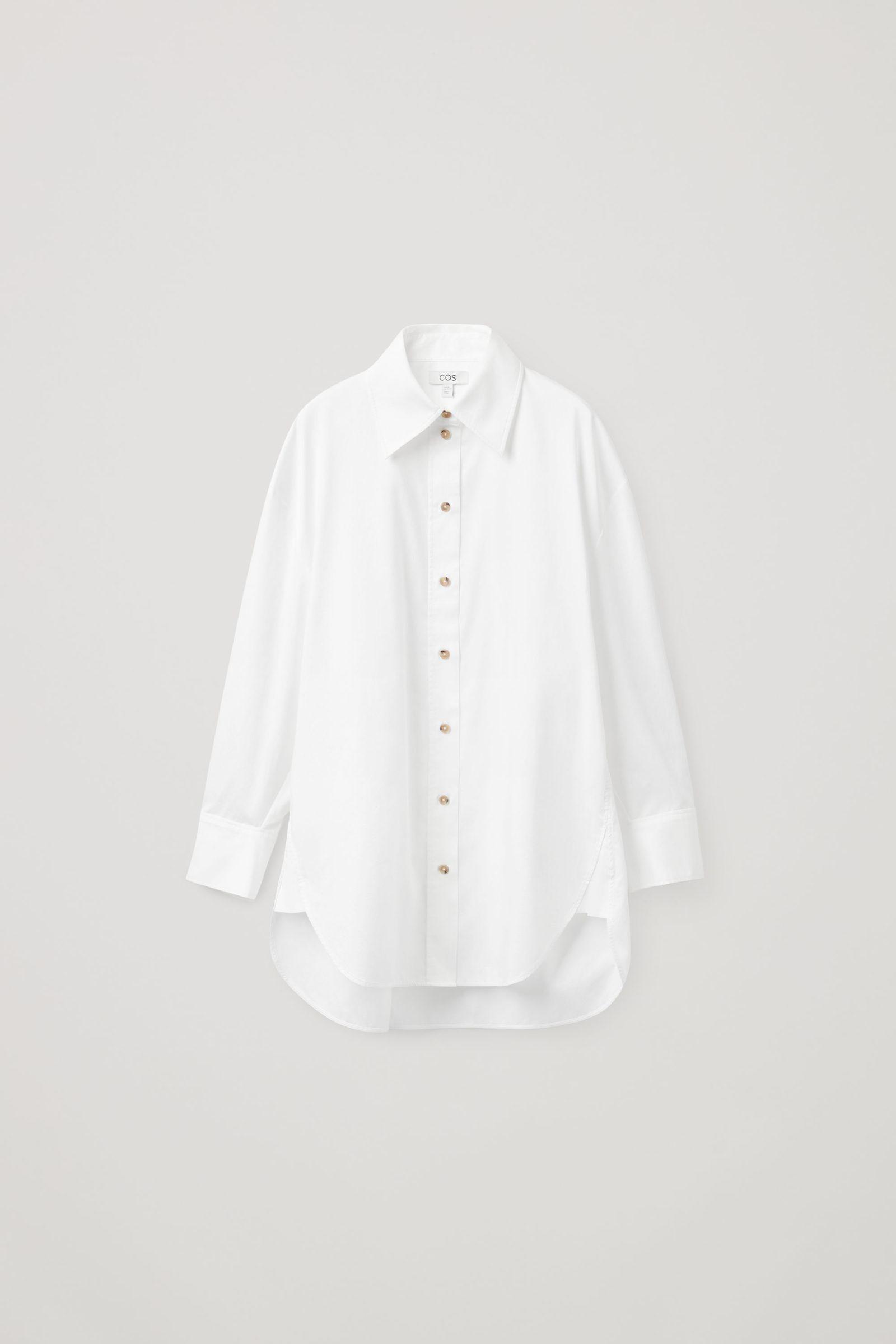 COS 오버사이즈 셔츠 의 화이트컬러 Product입니다.