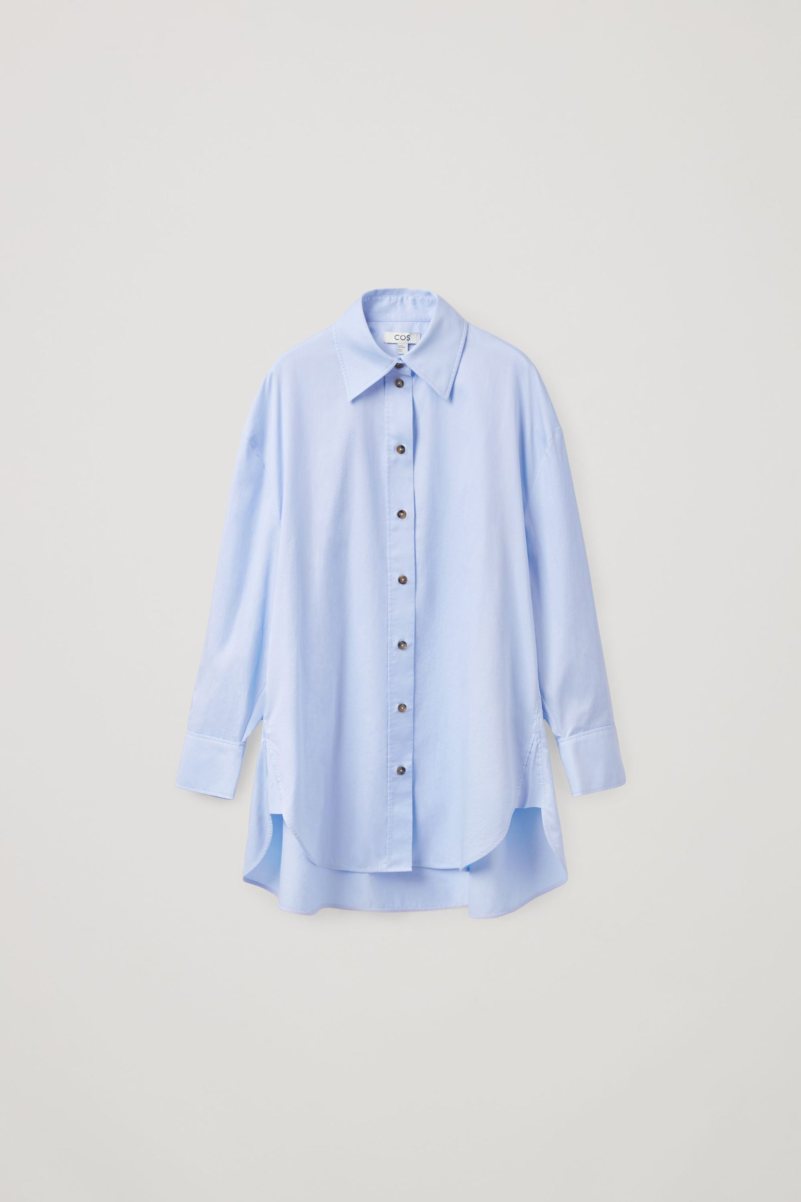 COS 오버사이즈 셔츠 의 라이트 블루컬러 Product입니다.