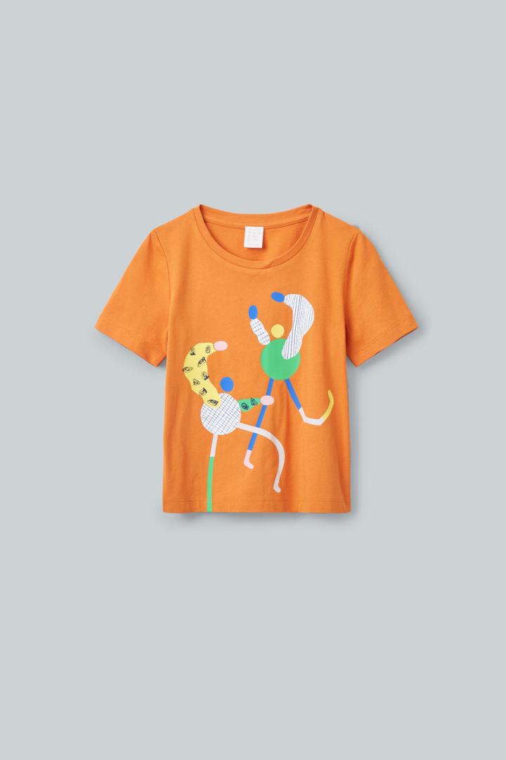 COS default image 10 of 오렌지 in 일러스트레이티드 티셔츠