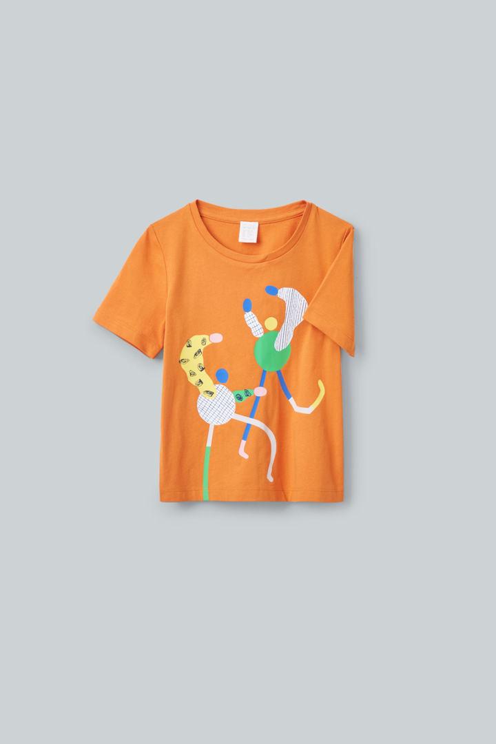 COS hover image 10 of 오렌지 in 일러스트레이티드 티셔츠