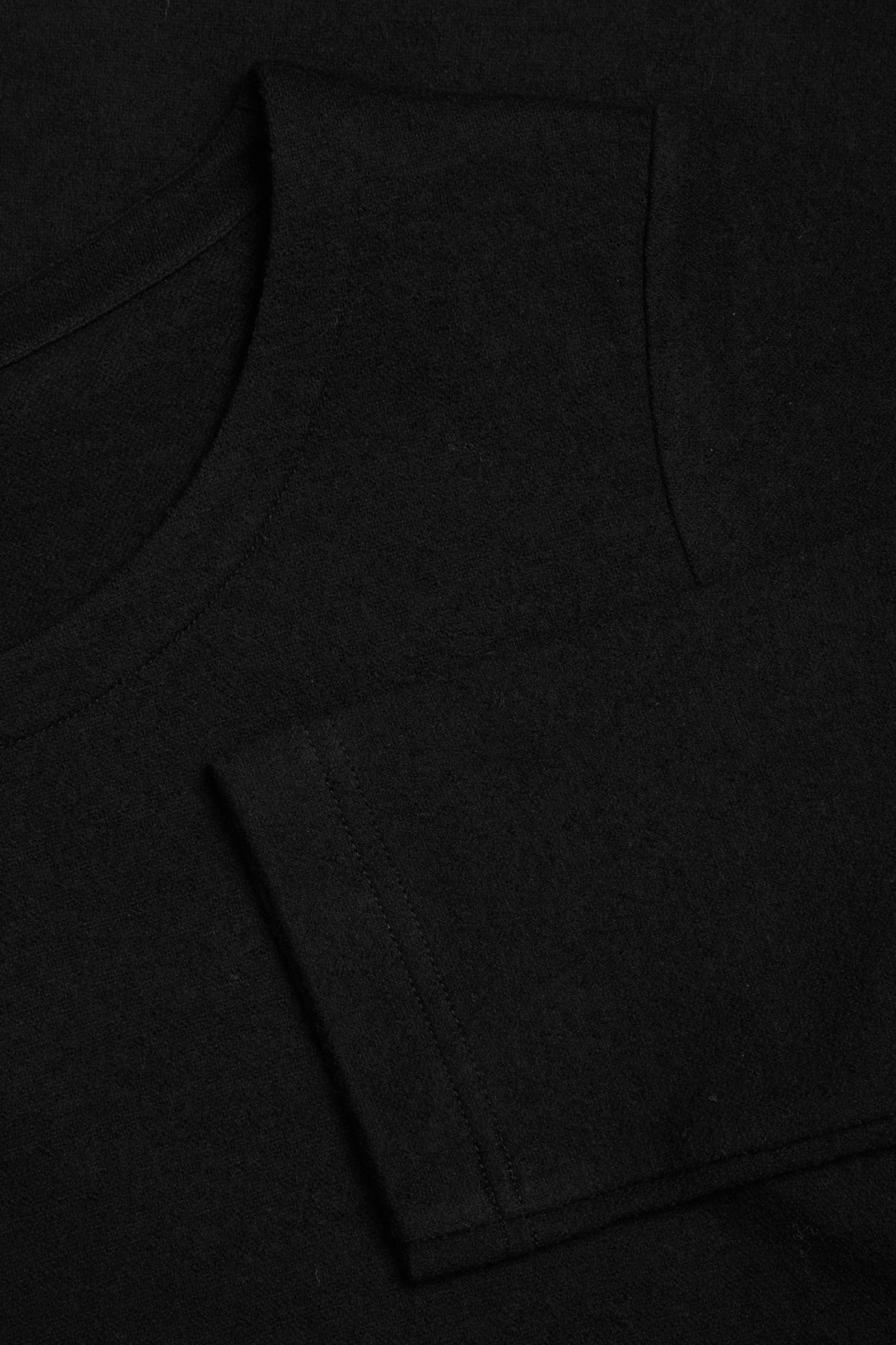 COS 메리노 울 오가닉 코튼 믹스 A라인 드레스의 블랙컬러 Detail입니다.