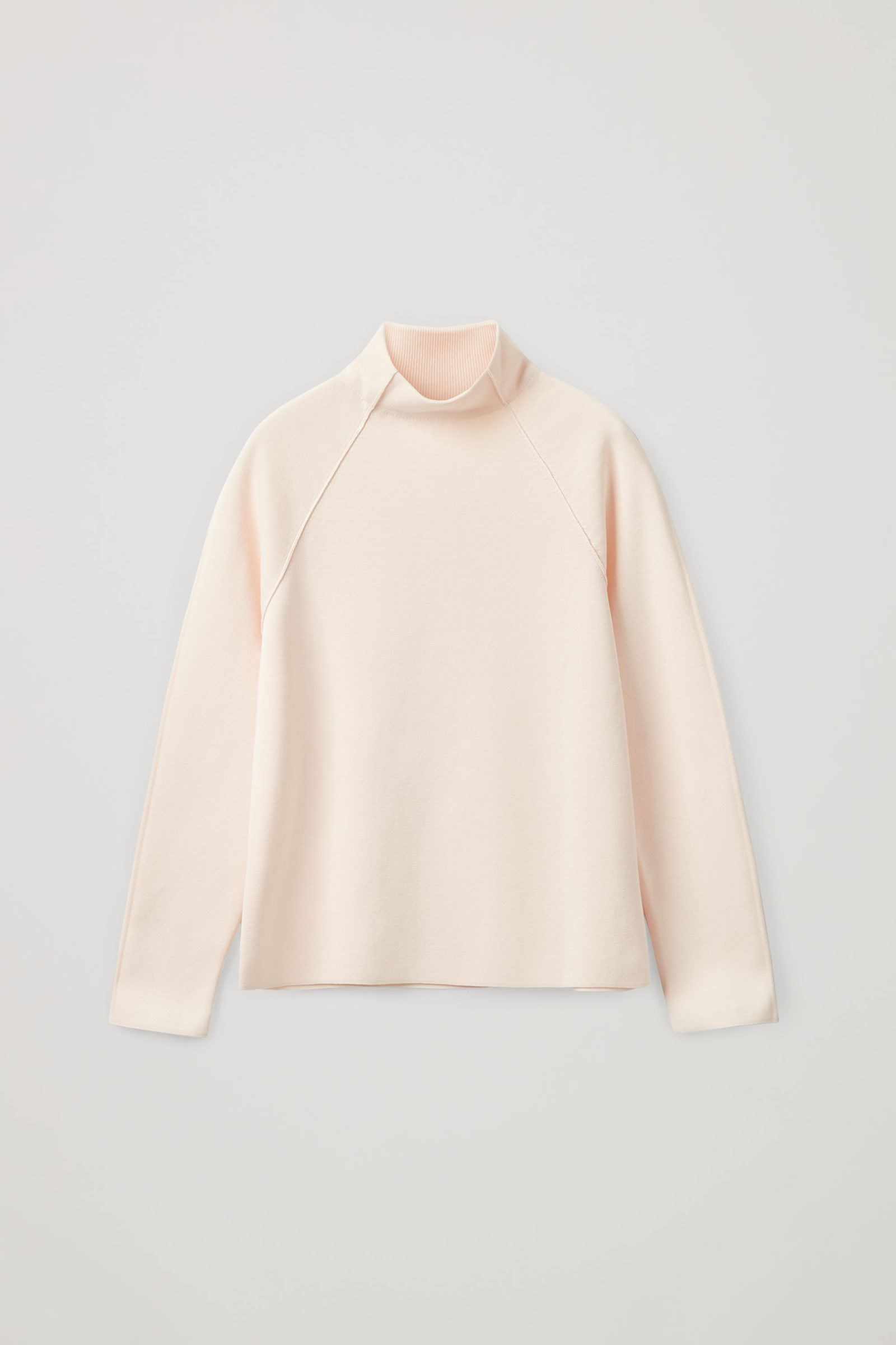 COS 폴로 넥 오가닉 코튼 스웨터의 더스티 핑크컬러 Product입니다.