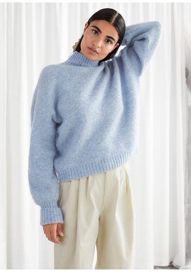 &OS image PRA default 8 of  in 알파카 블렌드 터틀넥 니트 스웨터