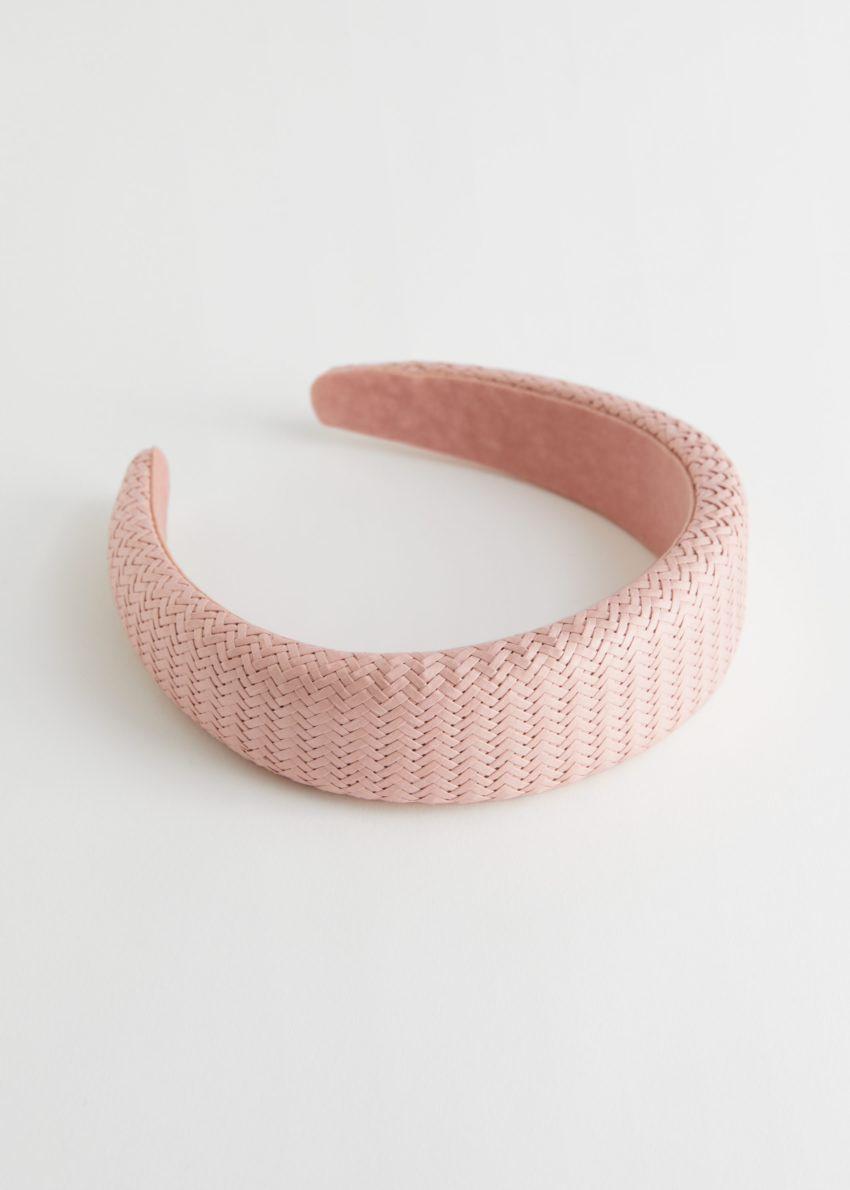 앤아더스토리즈 우븐 스트로 앨리스 헤어밴드의 핑크컬러 Product입니다.