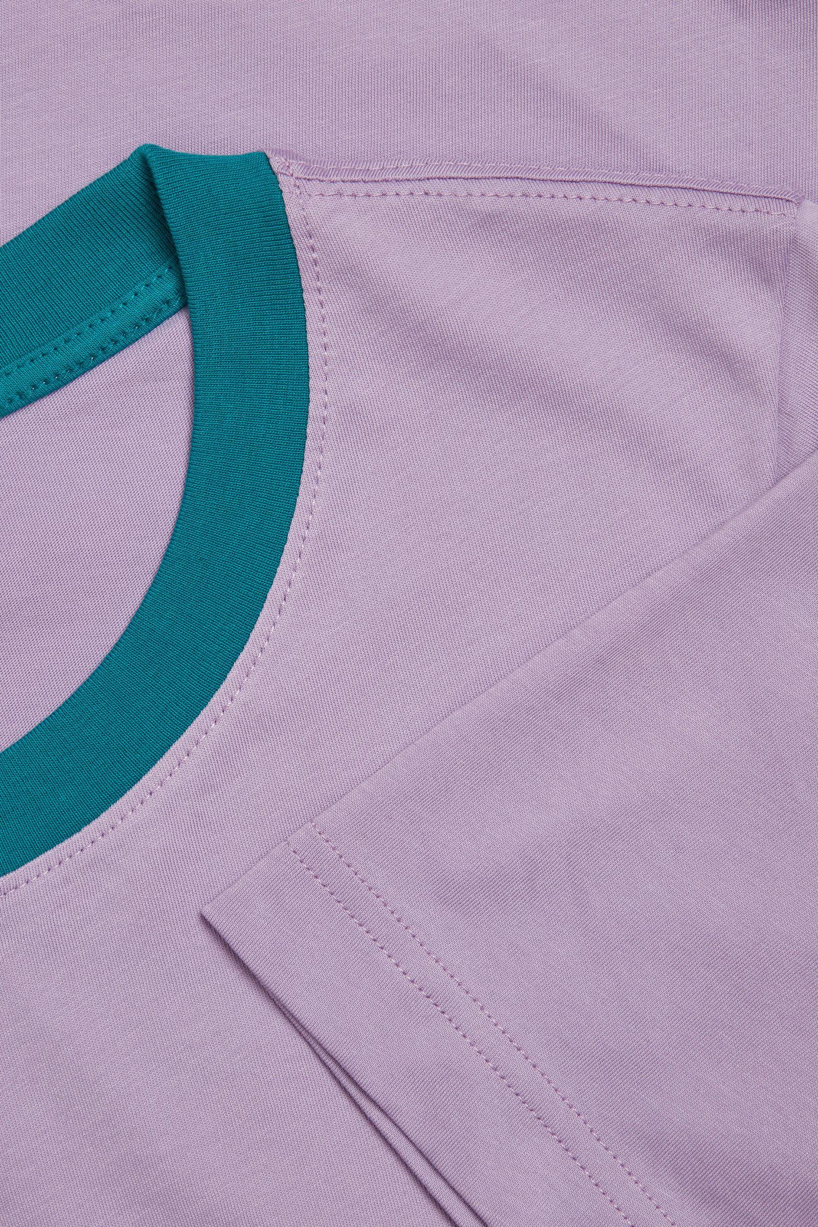 COS 코튼 저지 티셔츠의 퍼플컬러 Detail입니다.