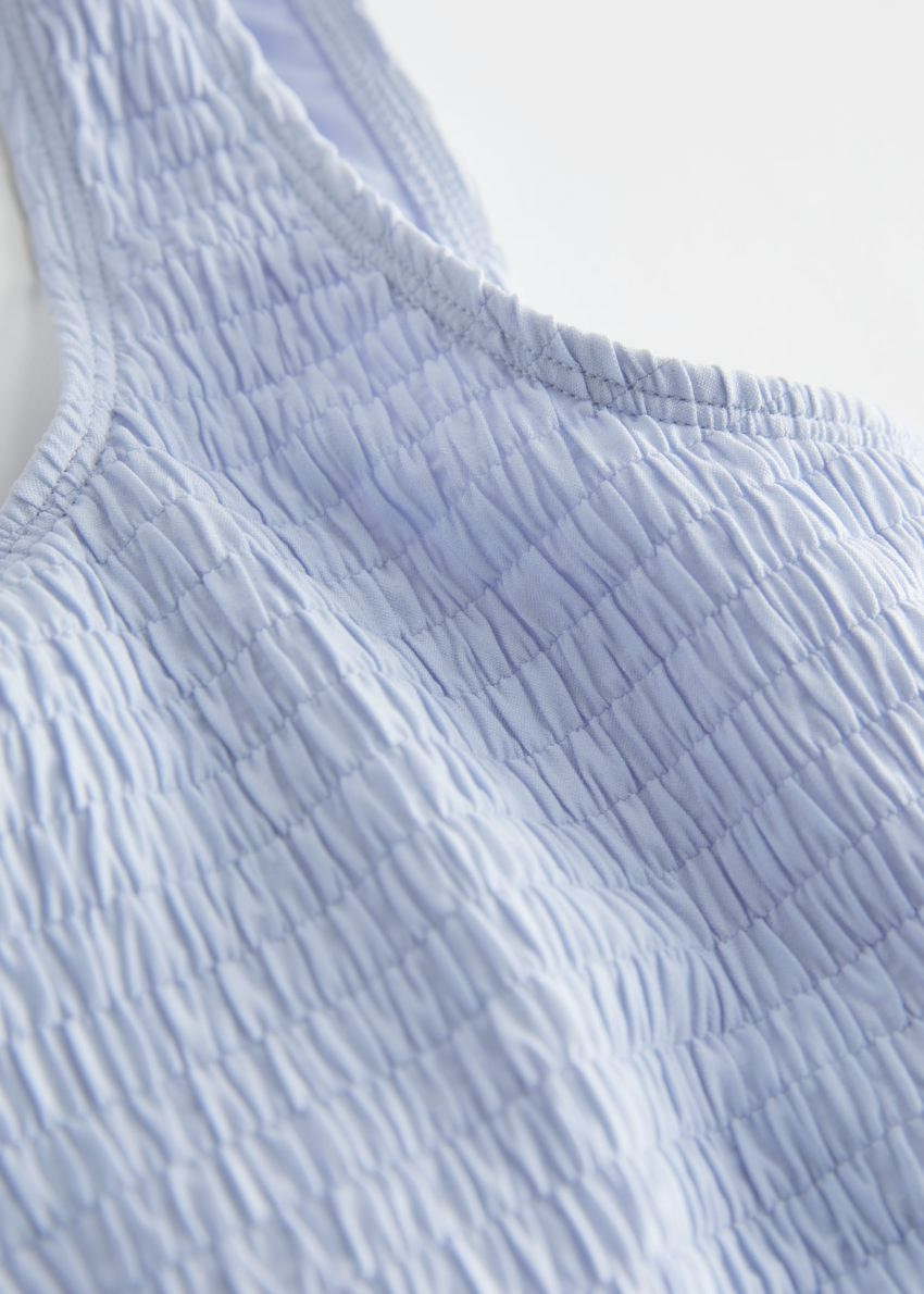 앤아더스토리즈 루시드 스퀘어 넥 비키니 탑의 라이트 블루컬러 Detail입니다.