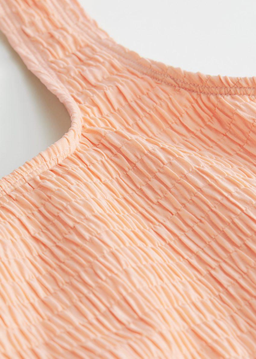 앤아더스토리즈 루시드 스퀘어 넥 비키니 탑의 라이트 오렌지컬러 Detail입니다.
