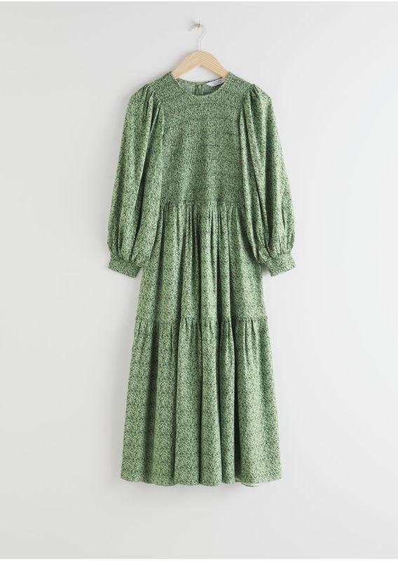 &OS image 23 of  in 스모크 앱스트랙트 프린트 맥시 드레스
