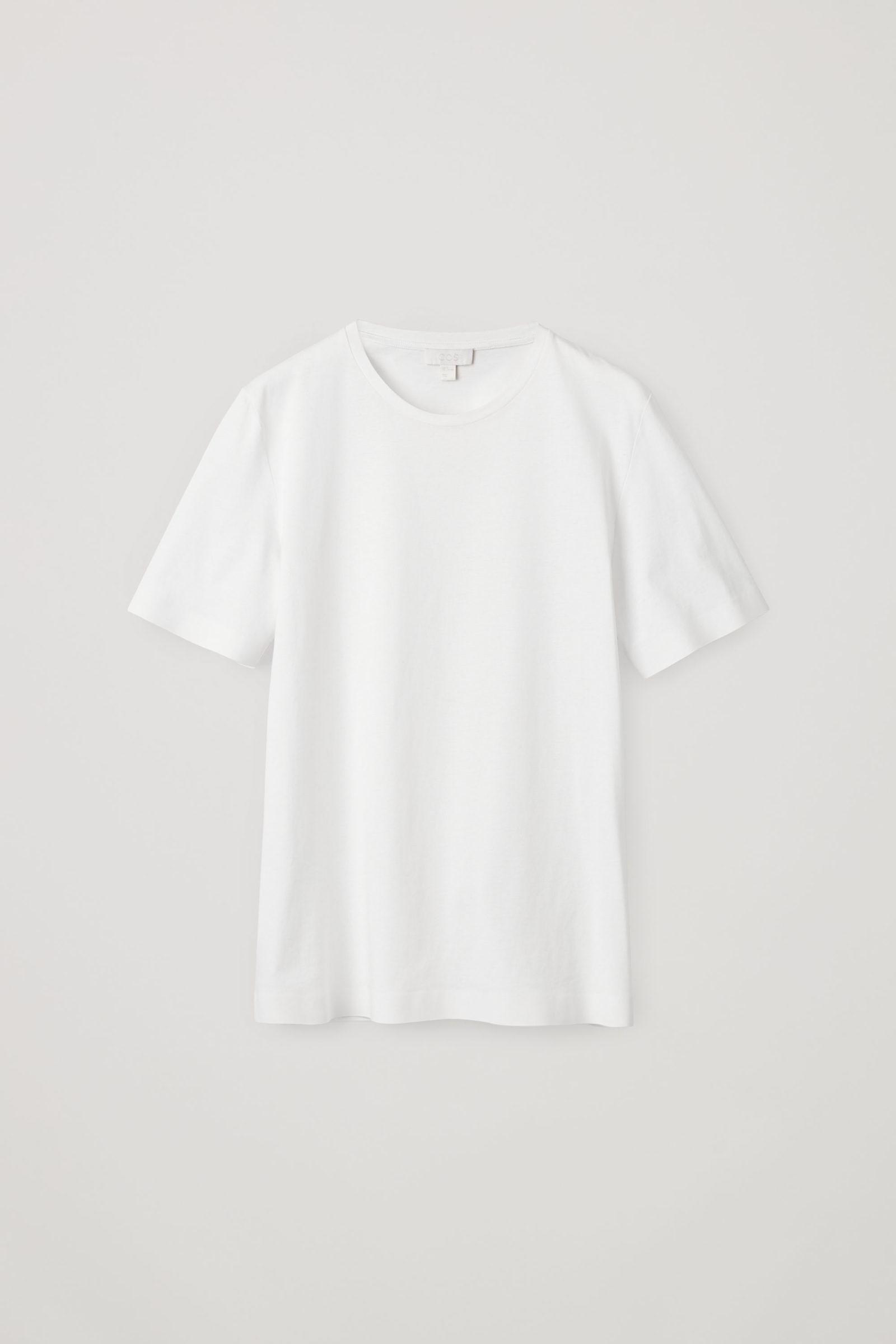 COS 본디드 코튼 티셔츠의 화이트컬러 Product입니다.
