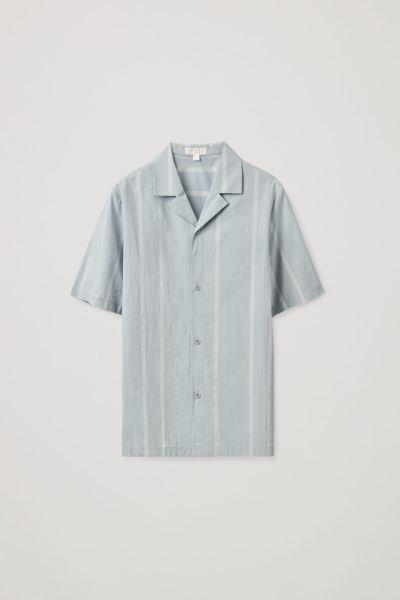COS default image 5 of 블루 in 릴랙스드 캠프 칼라 셔츠
