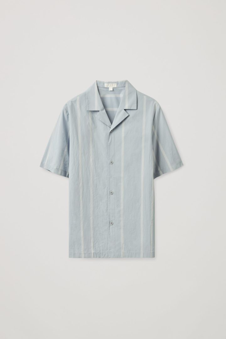 COS hover image 12 of 블루 in 릴랙스드 캠프 칼라 셔츠