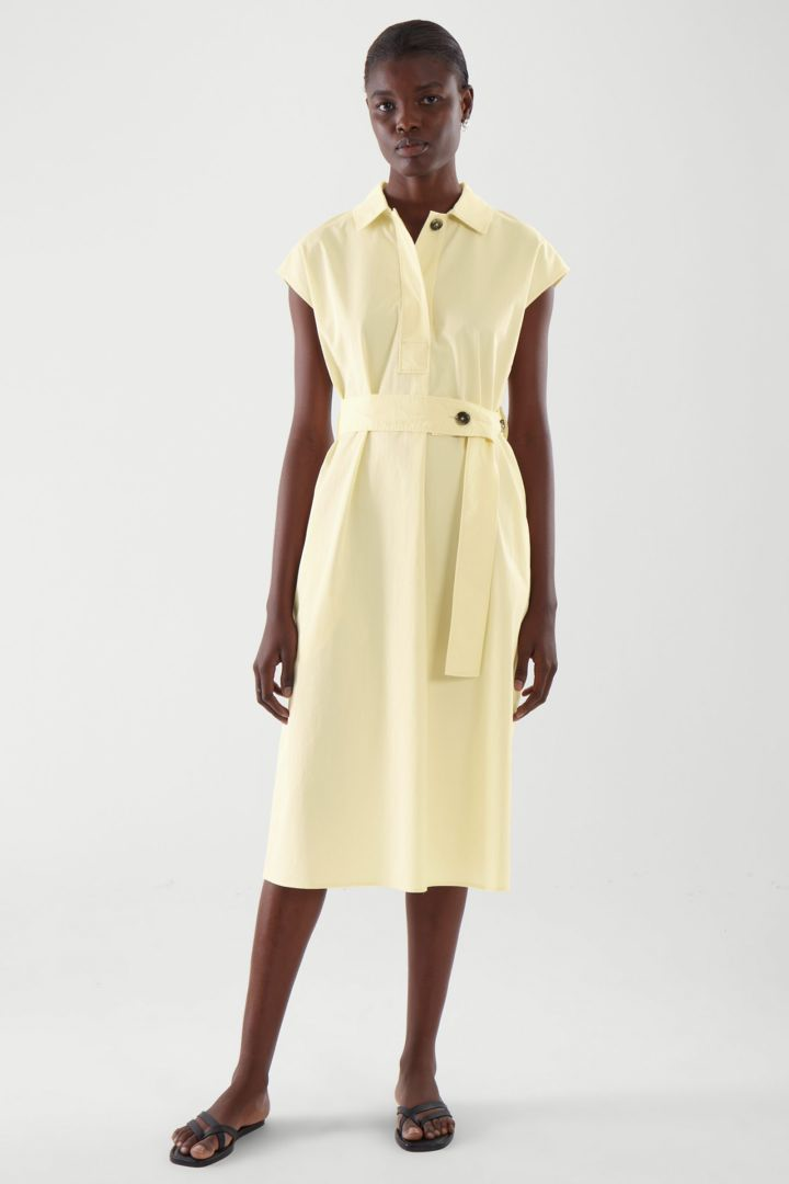 COS default image 1 of 옐로우 in 벨티드 셔츠 드레스