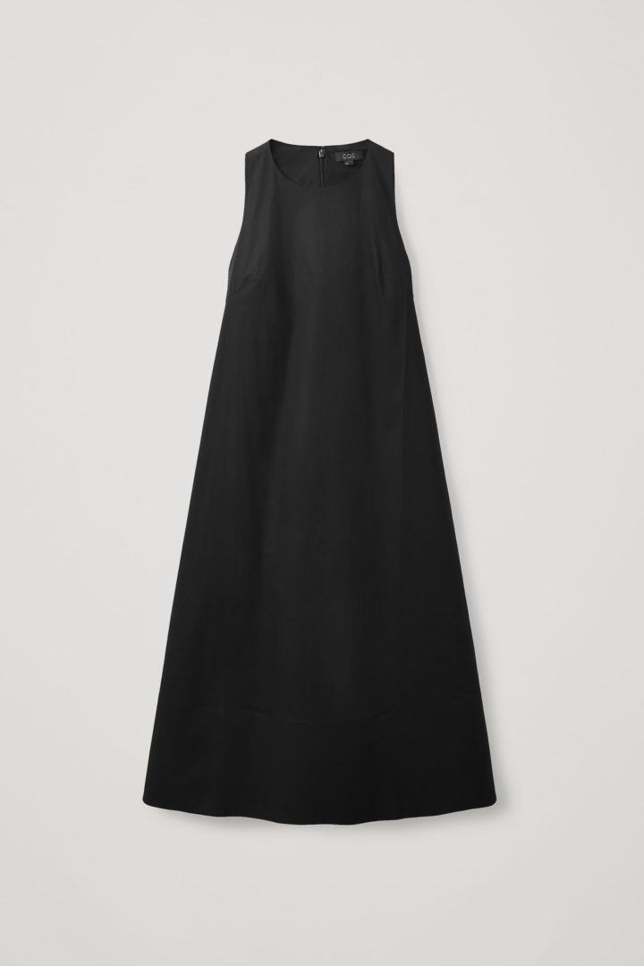 COS hover image 10 of 블랙 in 에이라인 미디 드레스