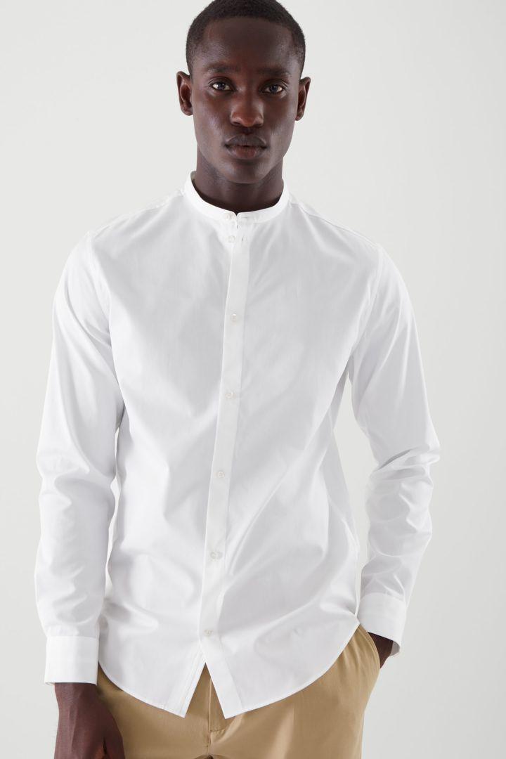 COS default image 12 of 화이트 in 포플린 칼라리스 셔츠