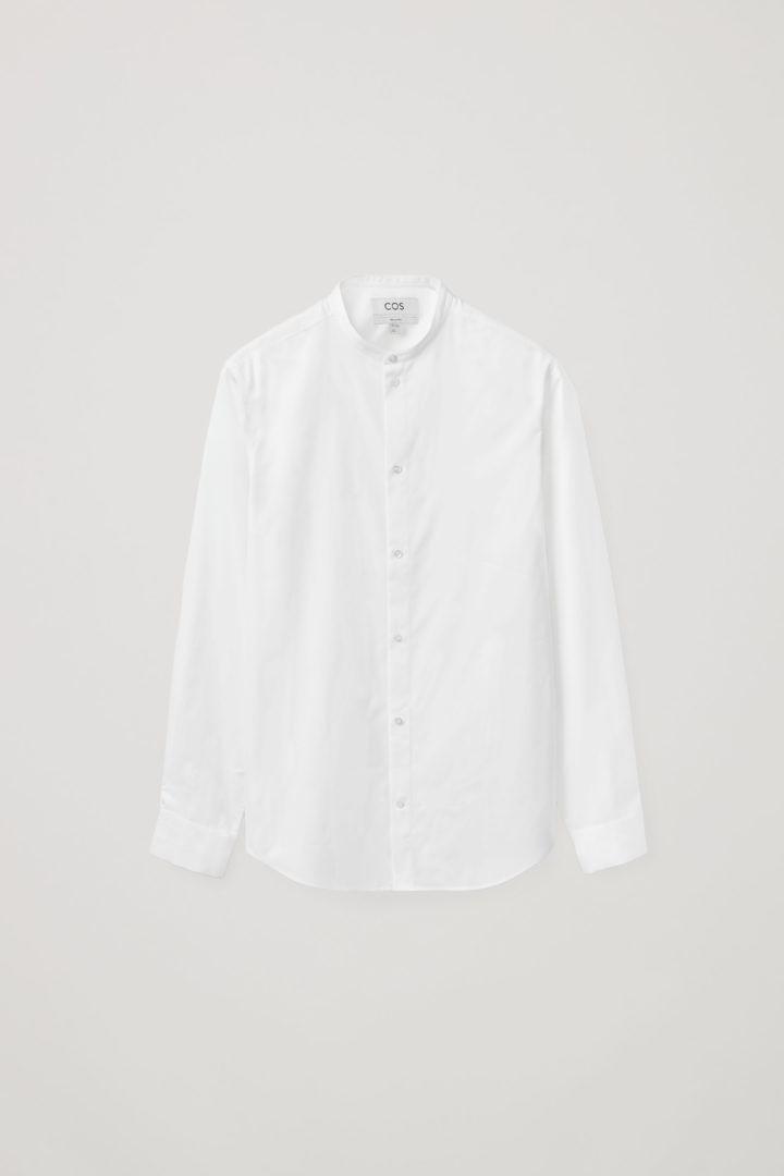 COS hover image 12 of 화이트 in 포플린 칼라리스 셔츠