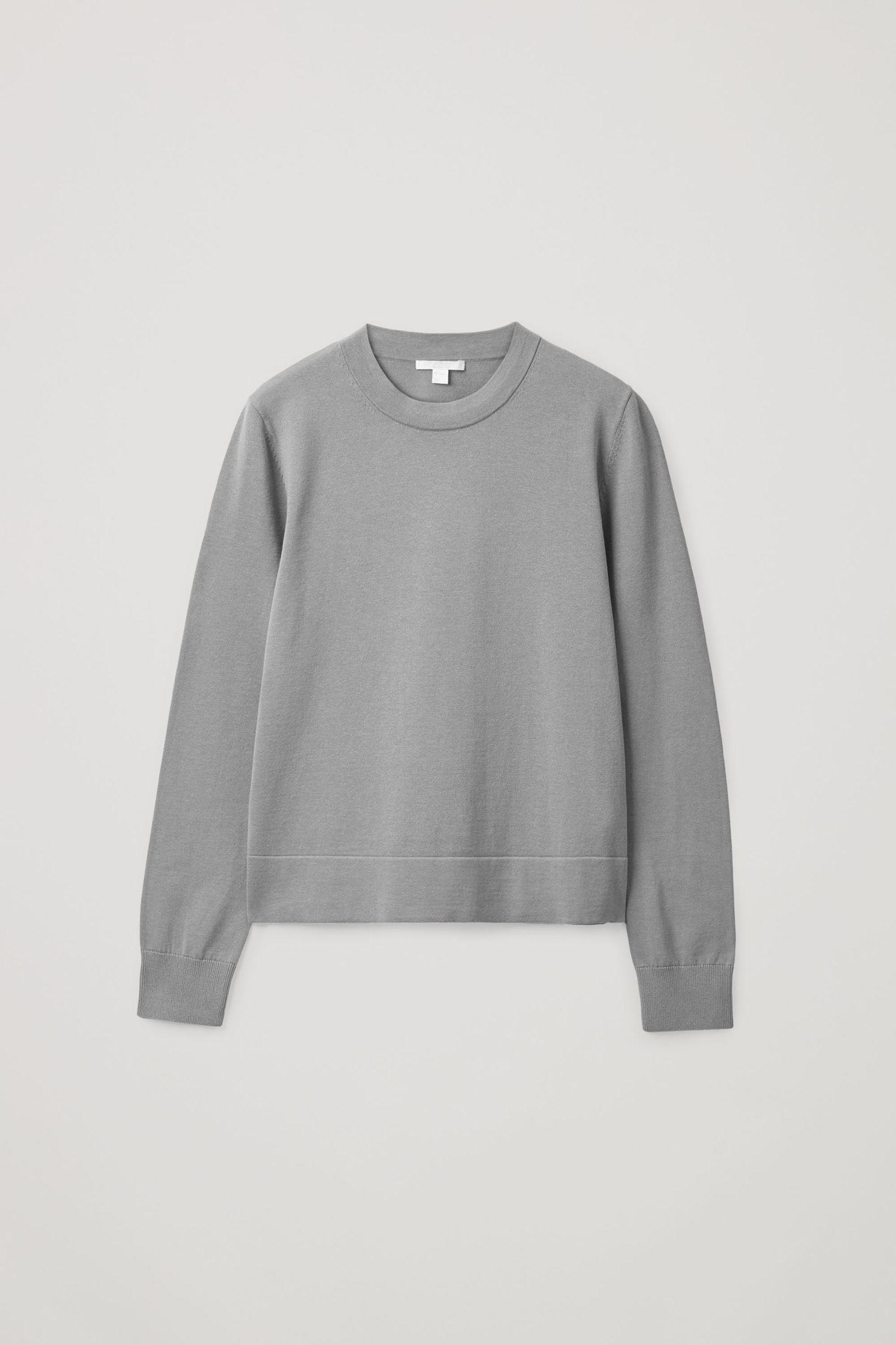 COS 레귤러 핏 스웨터의 스페이스 그레이컬러 Product입니다.