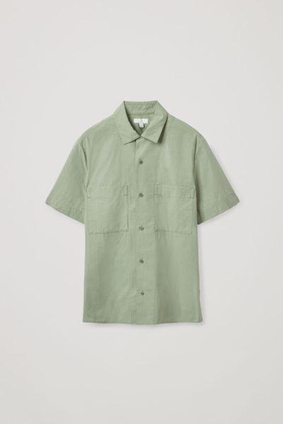 COS hover image 1 of  in 쇼트 슬리브 캠프 칼라 셔츠