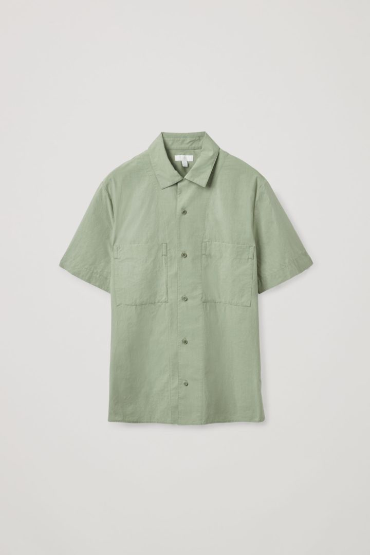 COS hover image 7 of  in 쇼트 슬리브 캠프 칼라 셔츠