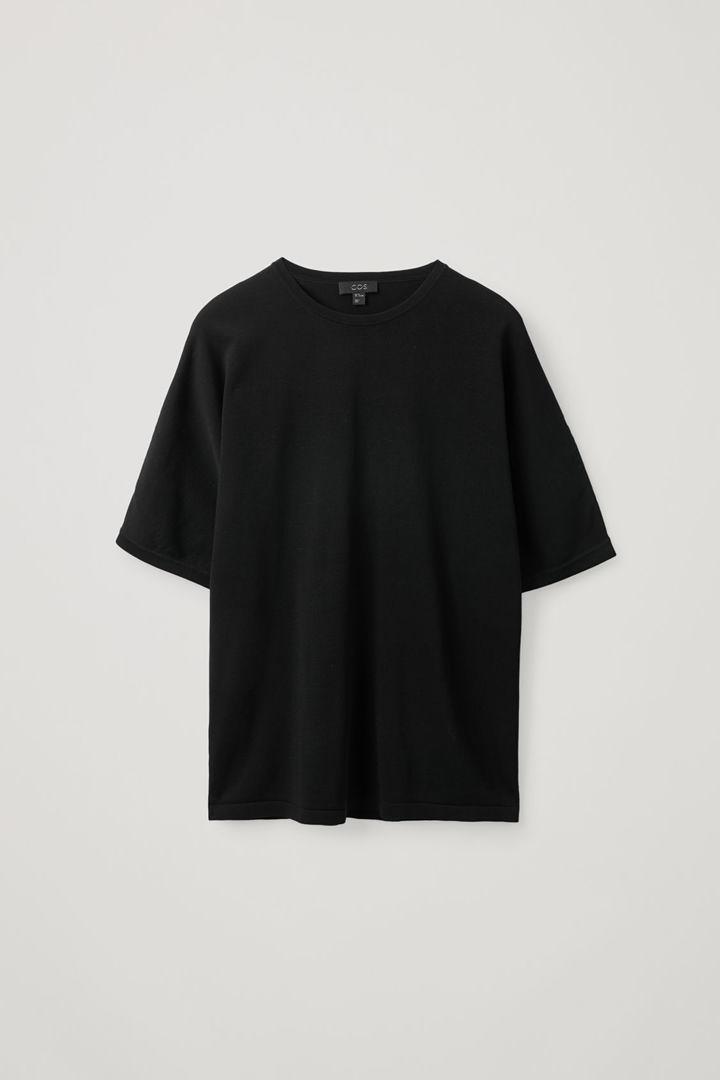 COS hover image 7 of 블랙 in 릴랙스드 니티드 티셔츠