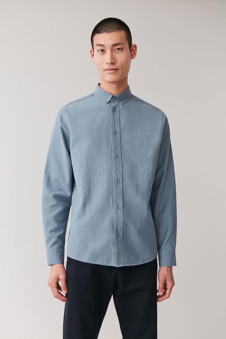 COS default image 10 of Blue in 버튼다운 칼라 셔츠