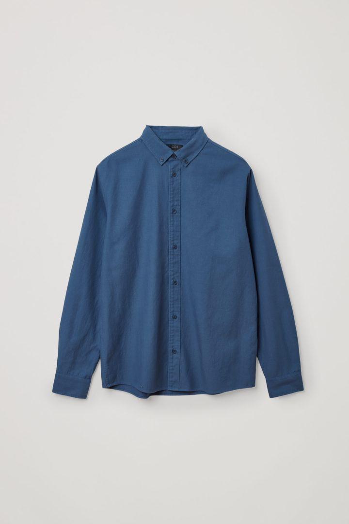 COS 버튼다운 칼라 셔츠의 블루컬러 Product입니다.