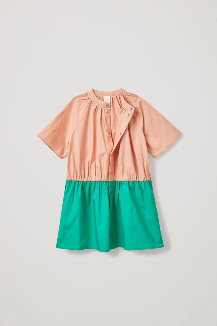 COS hover image 12 of 오렌지 in 칼라리스 셔츠 드레스