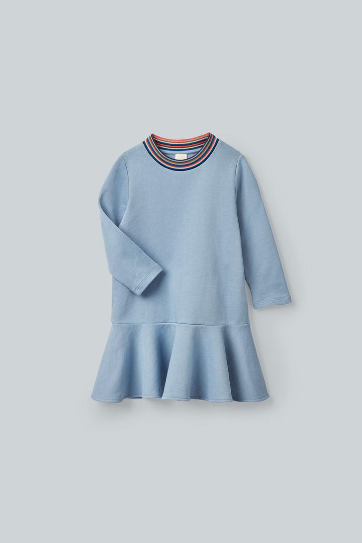 COS hover image 12 of 블루 in 코튼 스웻셔츠 드레스