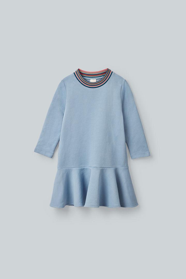 COS default image 12 of 블루 in 코튼 스웻셔츠 드레스