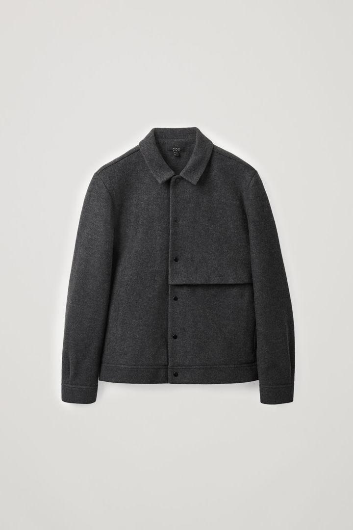 COS 보일드 울 재킷의 차콜컬러 Product입니다.