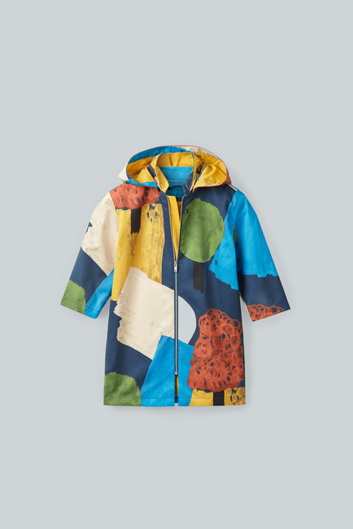 COS 디태처블 후드 프린티드 재킷의 멀티컬러컬러 Product입니다.