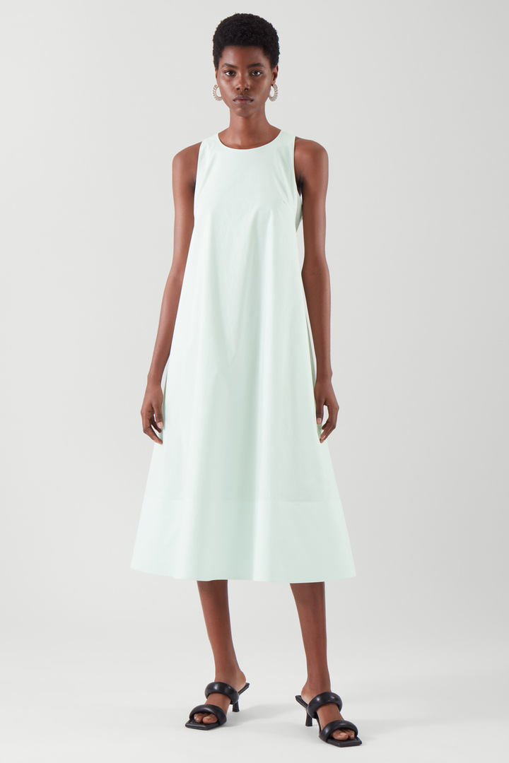 COS default image 9 of 그린 in 에이라인 미디 드레스