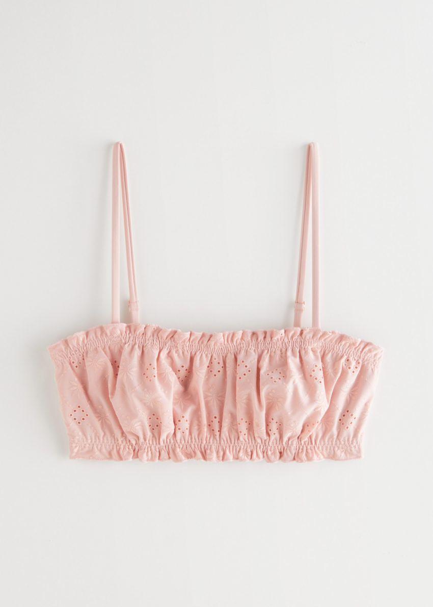 앤아더스토리즈 아일렛 엠브로이더리 방도 비키니 탑 의 핑크컬러 Product입니다.