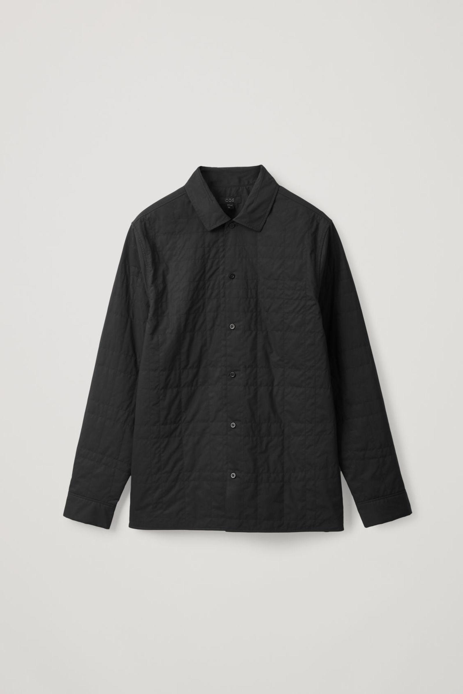 COS 퀼팅 코튼 셔츠의 블랙컬러 Product입니다.