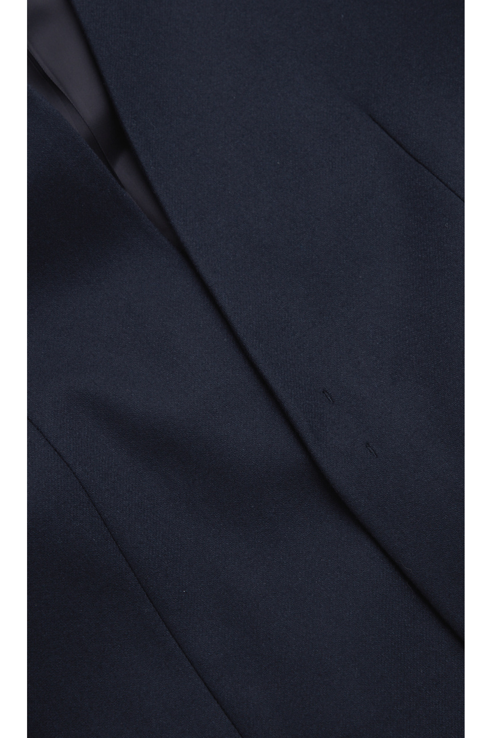 COS 캐시미어 울 믹스 칼라리스 블레이저의 네이비컬러 Detail입니다.