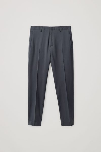 COS default image 2 of CROPPED SLIM-LEG TROUSERS