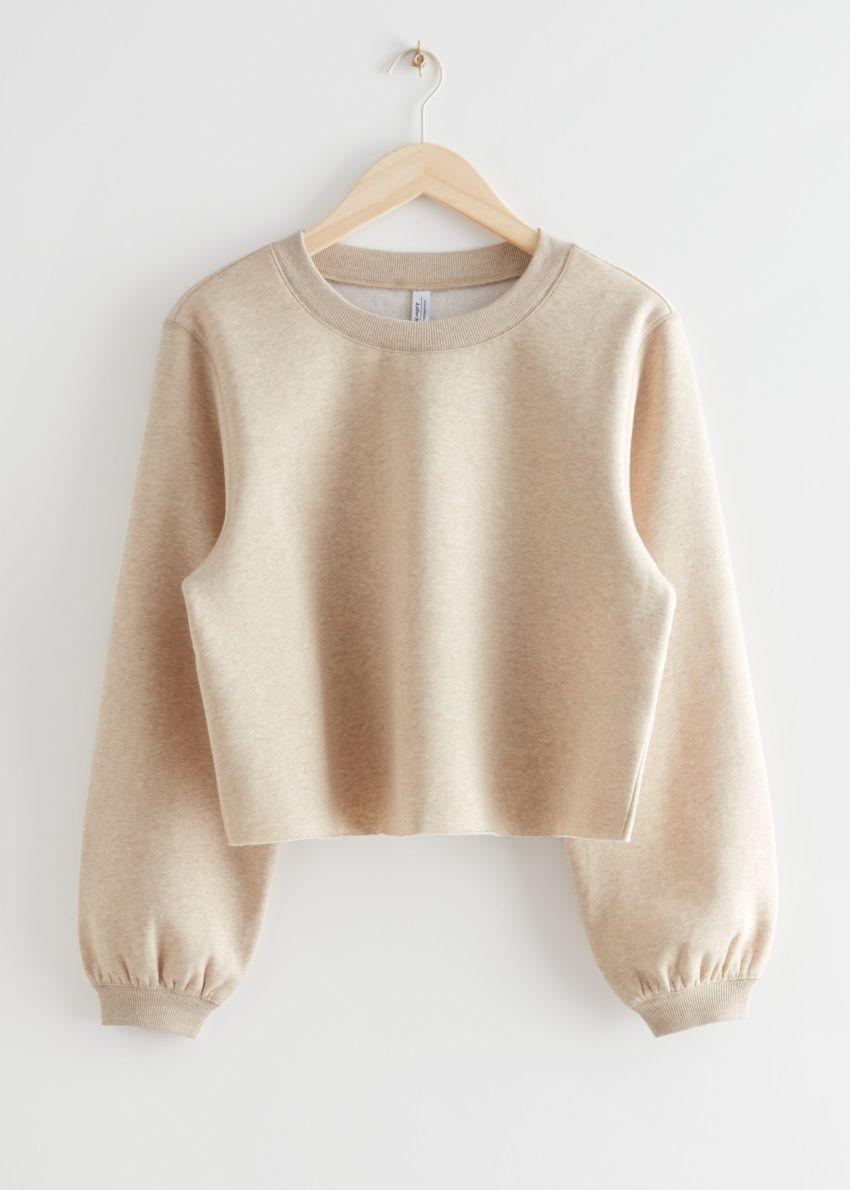 앤아더스토리즈 박시 저지 스웨터의 베이지컬러 Product입니다.