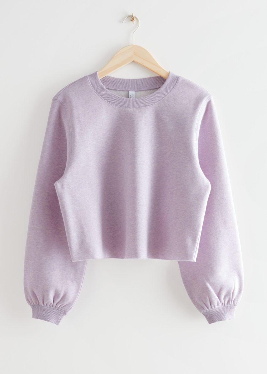 앤아더스토리즈 박시 저지 스웨터의 라일락컬러 Product입니다.
