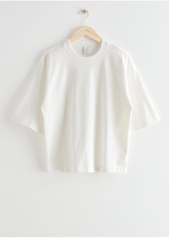 &OS image 12 of 화이트 in 박시 크루넥 티셔츠