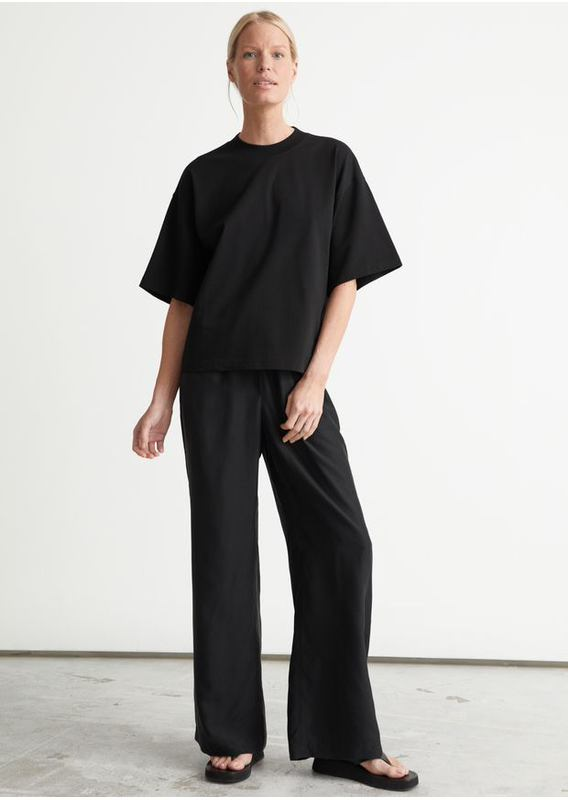 &OS image 4 of 블랙 in 박시 크루넥 티셔츠