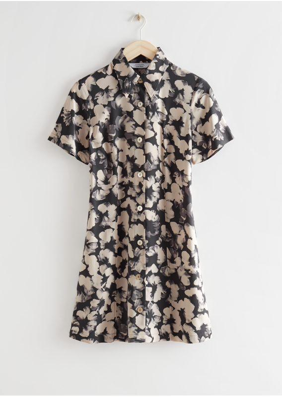 &OS image 17 of 블랙 in 미니 셔츠 드레스