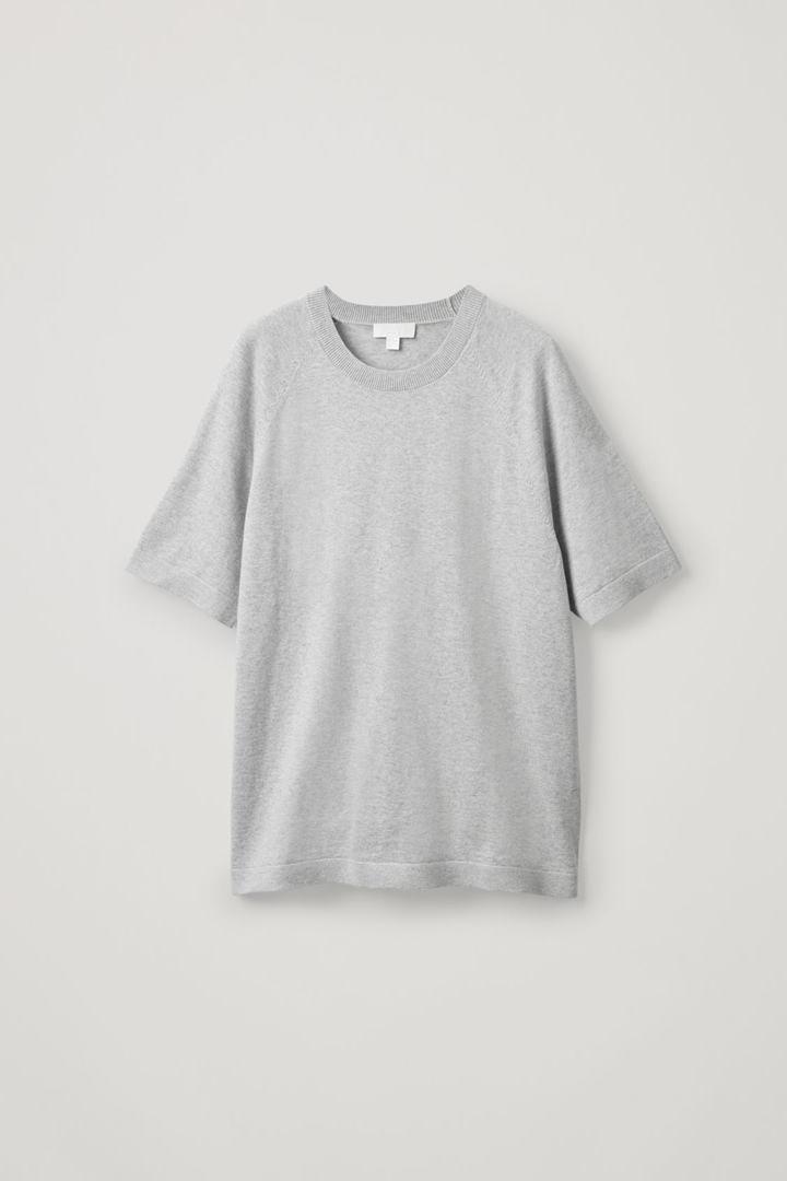 COS default image 10 of 브라운 in 코튼 캐시미어 니티드 티셔츠
