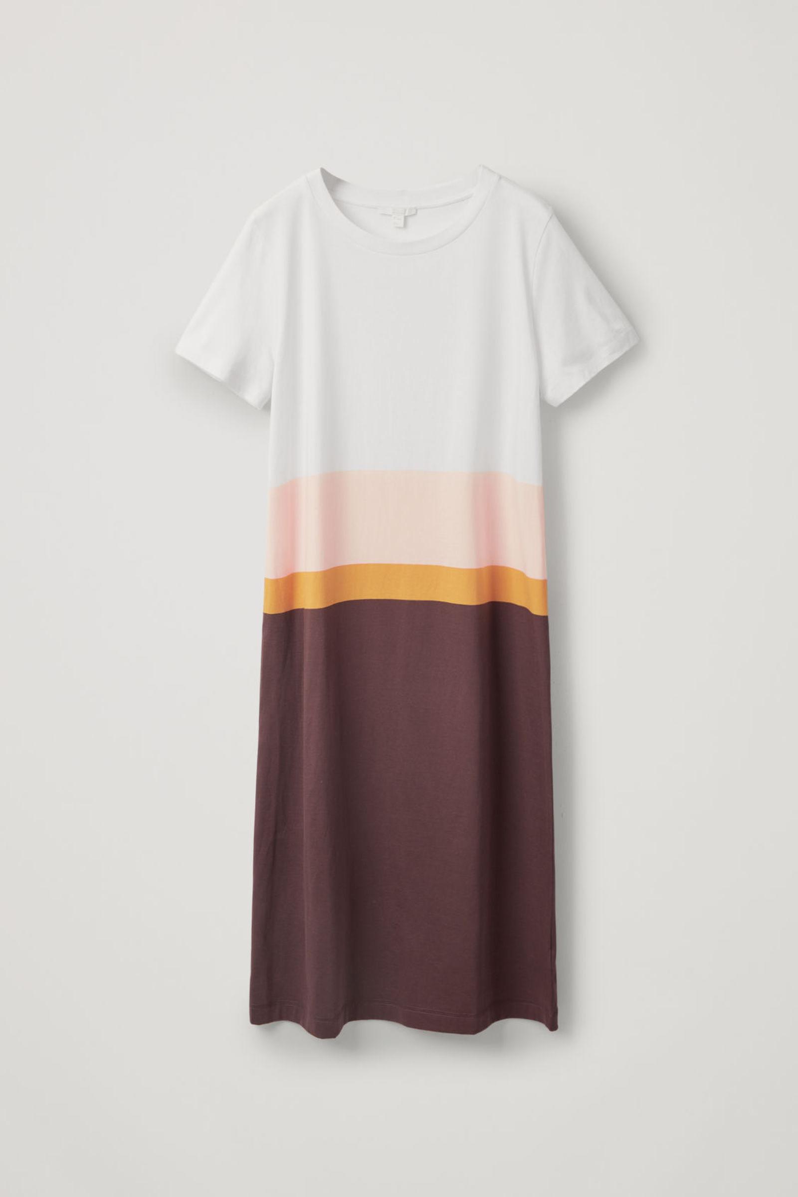 COS 코튼 티셔츠 드레스의 멀티컬러컬러 Product입니다.