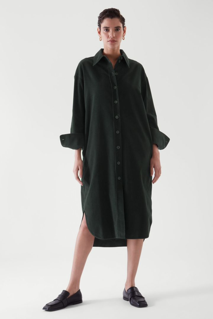 COS default image 1 of 그린 in 코듀로이 셔츠 드레스