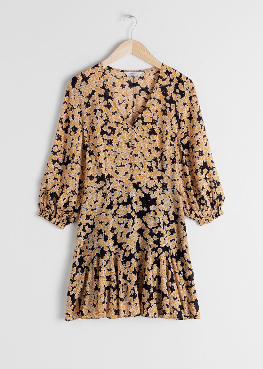 앤아더스토리즈 플로럴 모달 블렌드 미니 드레스의 오렌지 플로럴컬러 Product입니다.
