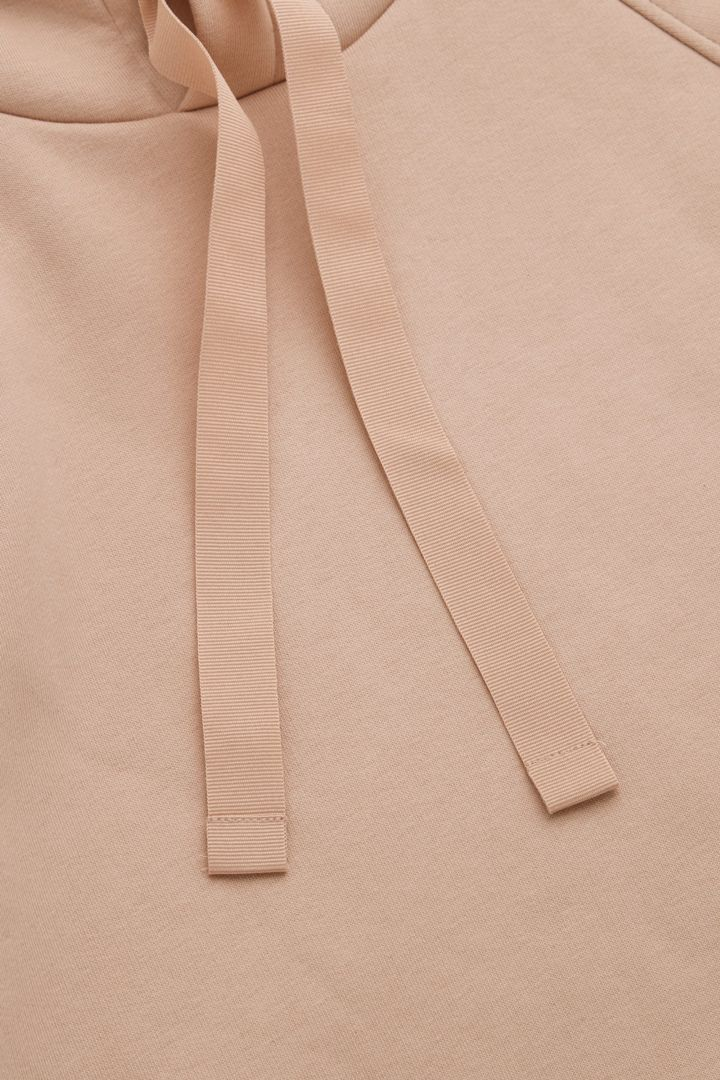 COS 사이드 슬릿 코튼 후디의 오렌지컬러 Detail입니다.